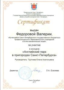 сертификат Федоровой
